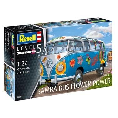 Revell Revell Maket 1:24 Volkswagen T1 Samba Bus  Renkli